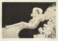 "Louis Icart (French, 1888-1950), ""PARFUM DE FLEURS"" 