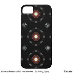 Black and white tribal southwestern boho cell case iPhone 5 covers