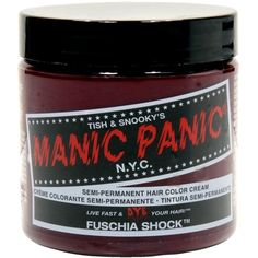Manic Panic Fuschia Shock Hair Dye ($15) ❤ liked on Polyvore featuring beauty products, haircare, hair color, hair dye, hair and manic panic