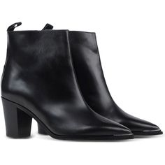 Acne Studios Ankle Boots ($595) ❤ liked on Polyvore featuring shoes, boots, ankle booties, обувь, real leather boots, short boots, zip ankle boots, leather zipped booties and zipper boots