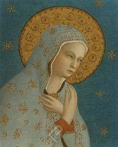Madonna della Pace Canvas by Fra Beato Angelico ( dettaglio dal Giudizio Universale, 1387 - 1445 )
