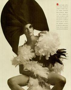Linda Evangelista for Vogue Italia, shot by Steven Meisel.