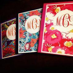 Printable Lilly Monogrammed Binder Covers by MonogrammedBinders on Etsy, $5.00