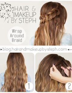 Tutorial: How To Make A Wrap Around Braid - click the image for the tutorial