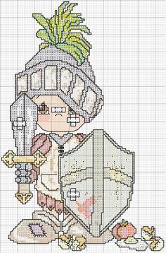 Schema punto croce Pm guerriero