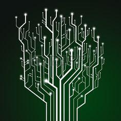 Circuit imprim fond de technologie Banque d'images