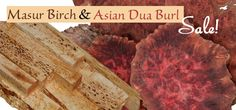 Amazing Duo - Don't Delay Limited Quantities! Masur Birch is an excellent choice for making knife scales, pen blanks and bottle stoppers! Asian Dua Burl is an excellent species for unique pen holders, bottle stoppers, jewelry, earrings and other small fine articles. Crushed Turquoise looks amazing with this species and we do have it in stock!