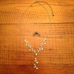 Lovely Austrian Crystal Necklace & Earring Set Worn once. Like new & very pretty! Jewelry Necklaces
