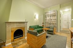 Green living room / Vihreä olohuone