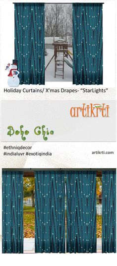 "Decorative curtains and drapes. Unique design style ""Star Lights"" from Artikrti - Artikrti"
