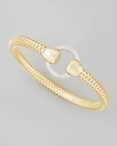 Roberto Coin Primavera 18k Diamond-Link Bracelet, 0.21 TCW from Neiman Marcus on shop.CatalogSpree.com, your personal digital mall.