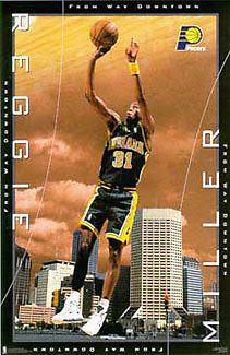 Amazoncom Reggie Miller Basketball Card 199596 Fleer