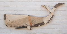 Whale made from an old musselling boat.  113cm x 44cm  www.fish-and-ships.com