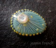 jasmin french ' jelly ' RINGTOP lampwork bead ooak