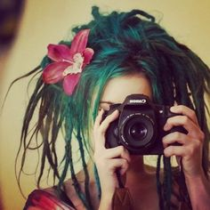 Dreadlocktruth.com user @thelazypineapple aka fairybunny #dreadlocks #selfie #girlswithdreads #dreadlocktruth
