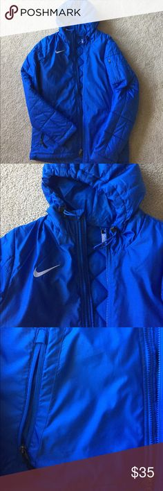Nike men's down coat, nwot, small Purchased for my son and he outgrew before he could wear it. Perfect condition. Tags removed. Quilted lining and super warm. Great coat. Nike Jackets & Coats
