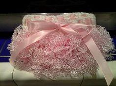 Crochet Pink Lace Ruffle Skirt PinkWhite by PunkinPatchApparel, $20.00