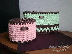 """32 Likes, 4 Comments - ВЯЗАНЫЕ СТИЛЬНЫЕ СУМКИ ПОДАРКИ (@knitting.dnk) on Instagram: """"Корзины для мелочей #dnk_корзины #dnklab #корзинадлямелочей #длядетей #дляпамперсов #длямамыималыша…"""""""