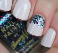 Love this look nails sparkles