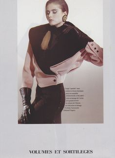 Nicole Nagel / Harper's Bazaar France / Photographer: Marco Glaviano / 80s Fashion