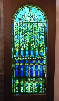 Tiffany stained glass window, Driehaus Museum, Chicago