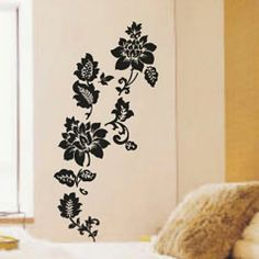 Walplus Big Flowers in Vine Wall Stickers - Casafina
