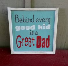SO extremely important to have a strong Christian father! I'm so blessed to have this in my own Dad, and the peace of knowing the man who stole my heart is so very similar to him in Christ-like character! Fathers Day Quotes, Fathers Day Crafts, Happy Fathers Day, Daddy Day, Mother And Father, Mothers, Grandparents Day, Hand Painted Signs, Cristiano