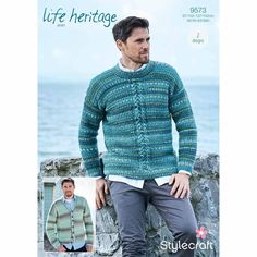 a2ed3d550 Sweater and Cardigan in Stylecraft Life Heritage - Digital Pattern