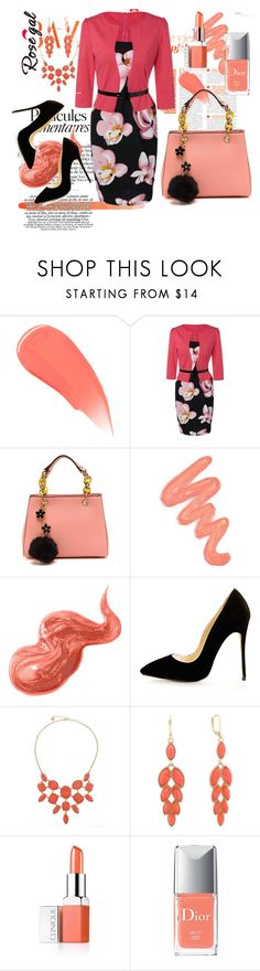 """""""Rosegal"""" by amraa-145 ❤ liked on Polyvore featuring Burberry, Obsessive Compulsive Cosmetics, Bobbi Brown Cosmetics, Monet, Clinique and Christian Dior"""