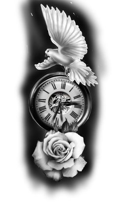 clock design ideas 805159239613446674 - Clock and dove Source by Dove And Rose Tattoo, Clock And Rose Tattoo, Clock Tattoo Sleeve, Rose Tattoos For Men, Dove Tattoos, Half Sleeve Tattoos For Guys, Forarm Tattoos, Forearm Sleeve Tattoos, Tribal Sleeve Tattoos