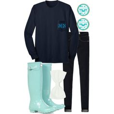 Hunter boots and monograms...can it get any better?