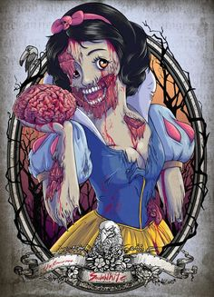 Gruesome Zombie Disney Princesses You Won't Soon Forget - Smashcave