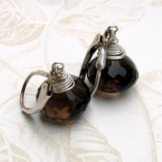 Your place to buy and sell all things handmade Chocolate Crafts, Smokey Quartz, Handmade Sterling Silver, Earrings Handmade, Tea Pots, Kiss, Jewelry Design, Tea Pot, Kisses
