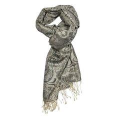Gray Jamavar Silk Scarf