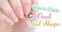 Hottest Trends for Acrylic Nail Shapes Diy Oval Nails, Short Oval Nails, Square Oval Nails, Oval Acrylic Nails, Oval Shaped Nails, Acrylic Nail Shapes, Round Nails, Diy Nails Videos, Nail Tip Shapes