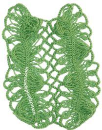 uniòn de tiras tejidas en horquilla - hairpin lace