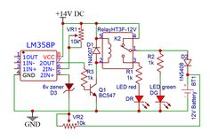Automatic Battery Charger circuit using LM358 OP-AMP » Power supplies Ups Power Supply, Power Supply Circuit, Battery Charger Circuit, Automatic Battery Charger, Electronic Circuit Design, Electronic Engineering, Diy Electronics, Electronics Projects, Diy Amplifier