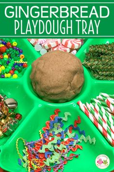 Find lots of ideas to help you easily make a gingerbread playdough tray. Kids love using the materials to make fun gingerbread themed creations. Gingerbread Man Book, Gingerbread Man Activities, Preschool Christmas Activities, Gingerbread Crafts, Kindergarten Art Projects, Preschool Classroom, Counting Activities, Gingerbread Cookies, Playdough Activities