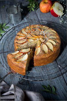 Gesunder Apfelkuchen ohne Mehl, Zucker und Butter