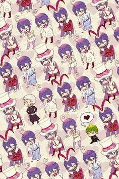 Blue exorcist chibis. hahahah love Mephisto Phelest. He's just perfect :D
