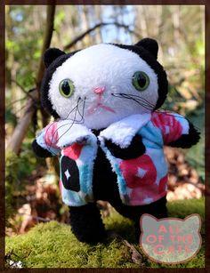 Cat Plushie OOAK  cat plush  stuffed cat  cat stuffed
