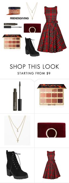 """""""the hostess"""" by cheapchicceleb ❤ liked on Polyvore featuring NYX, tarte, LOFT, Jessica McClintock, Sur La Table, friends, Dinner, holidays, parties and thanksgiving"""