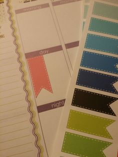 Flag stickers for your Erin Condren Life Planner!