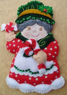 Christmas Ornaments Bucilla Christmas by on Etsy Felt Christmas Ornaments, Christmas Crafts, Christmas Decorations, Holiday Decor, Felt Crafts, Diy And Crafts, Felt Applique, Christmas Projects, Christmas Traditions