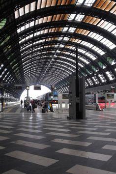 Milan train station.
