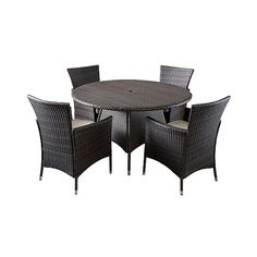 Patio Dining Set: Christopher Knight Home Rodgers 5-piece Wicker Patio... ($830) ❤ liked on Polyvore featuring home, outdoors, patio furniture, outdoor patio sets, brown, outside patio furniture, 5 piece outdoor patio set, outdoors patio furniture, christopher knight home and wicker garden furniture