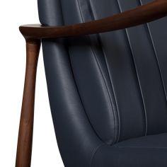 Hudson Armchair | Essential Home | Mid Century Furniture Mid Century House, Mid Century Furniture, Mid Century Design, Walnut Wood, Contemporary Furniture, Home Furnishings, Armchair, Furniture Design, Classic