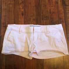 Light pink A&F shorts  Very cute but too small for me. No signs of wear. Bundle with other items to save on shipping Abercrombie & Fitch Shorts
