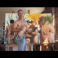 Anton Uhl (@artofanton) • Instagram photos and videos Male Figure, Gay Art, Triptych, Anton, Figurative Art, Oil On Canvas, Nude, Photo And Video, Videos