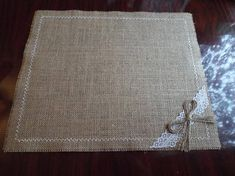 Burlap Placemats, Burlap and Lace 12 х 12, 12 x 16 or 12 x 14, 12 x 18 Rustic Table Placemat Measurements 12 inches *12 inches or 12 inches * 14 inches. This adorable placemat made of natural burlap, and I decorated with burlap fringe. Perfect for any event, rustic or French wedding ,